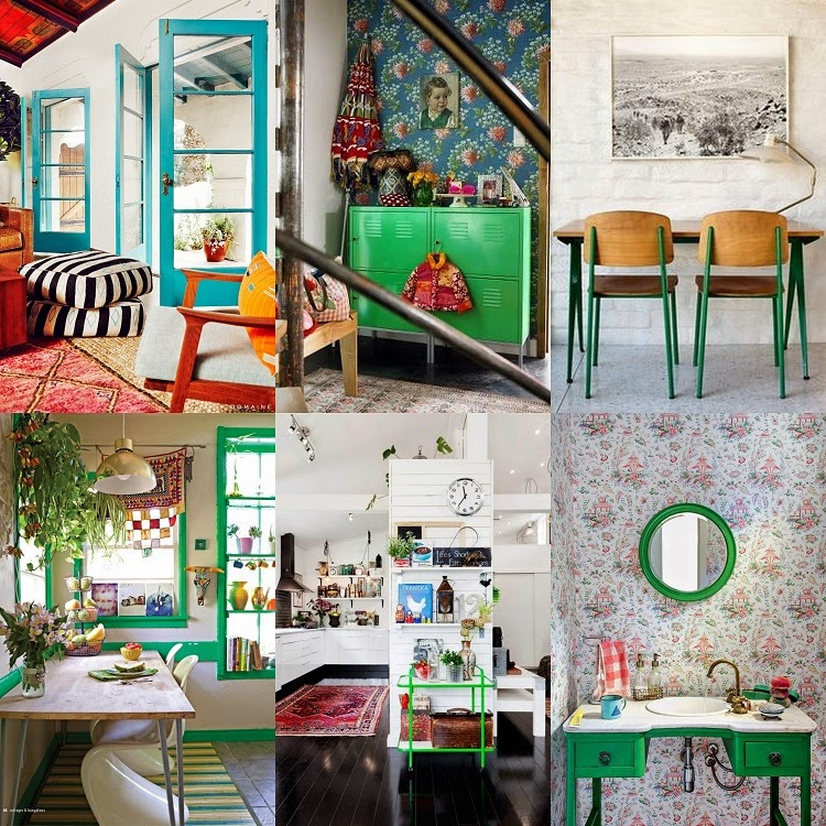 These 6 Pieces Of Colorful Furniture Are Absolute Must Haves: GYPSY YAYA: Color Pop! Brightly Painted Doors, Furniture