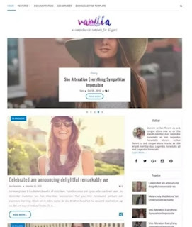 Vanilla lifestyle responsive Blogger templates by Sora Templates