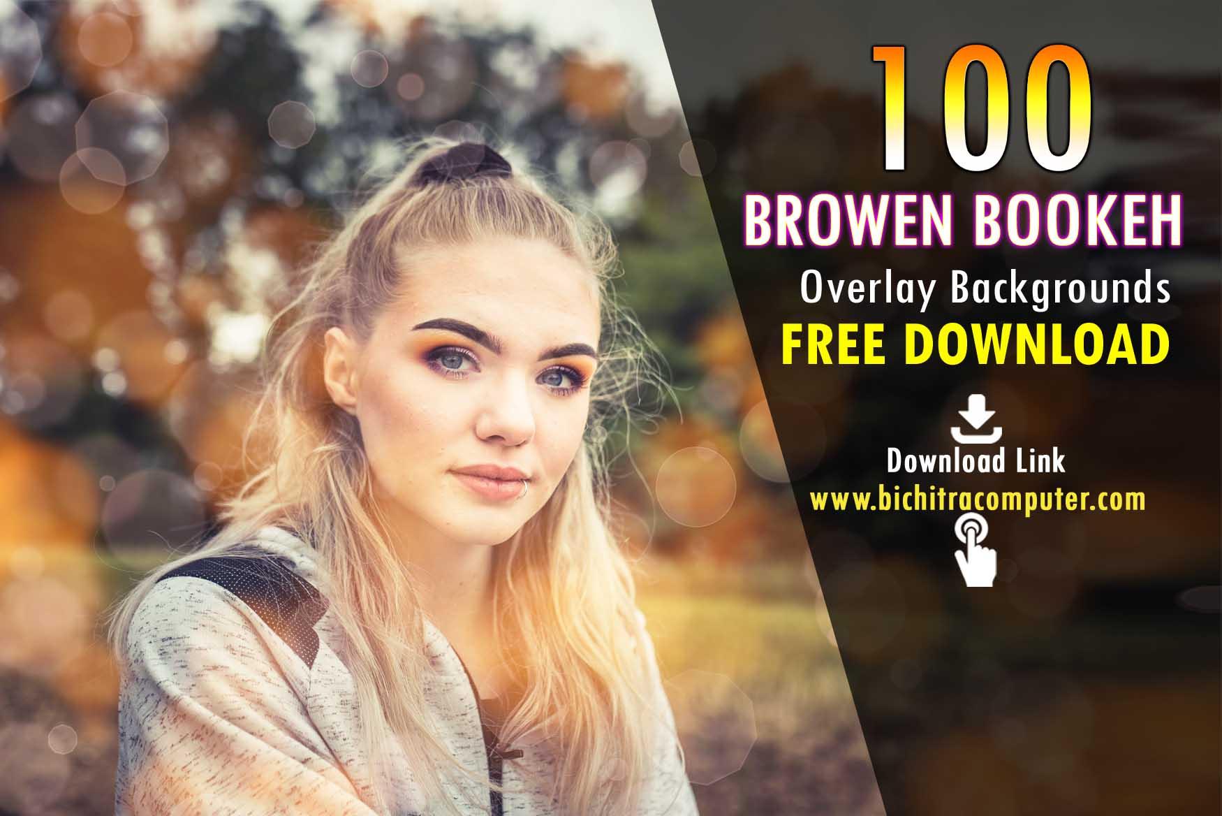 Brown Bokeh Overlays
