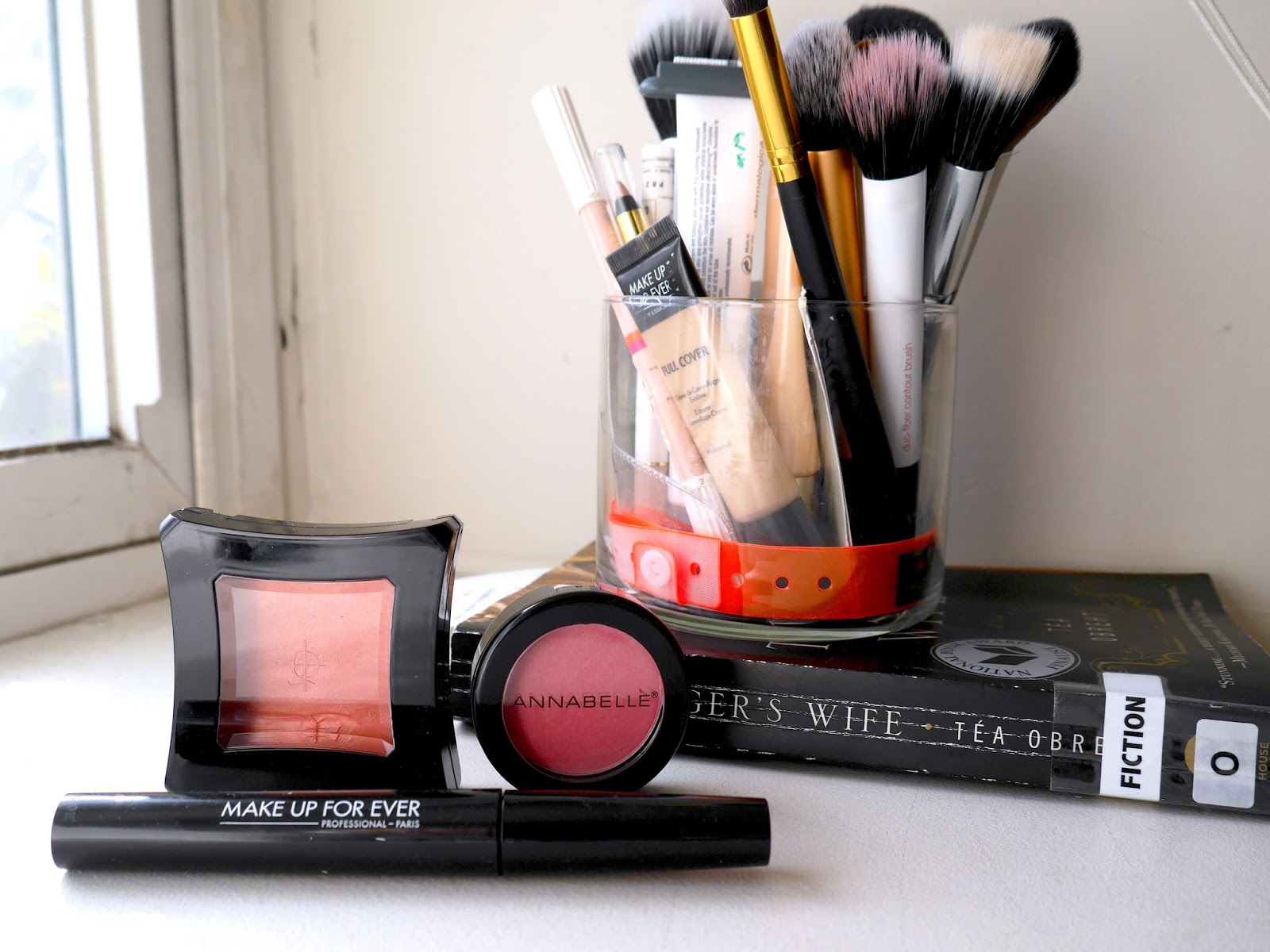 favorites make up for ever smoky stretch mascara illamasqua rude annabelle peony blush