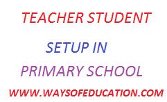 STUDENT-TEACHER SETUP 2019  IN PRIMARY SCHOOL