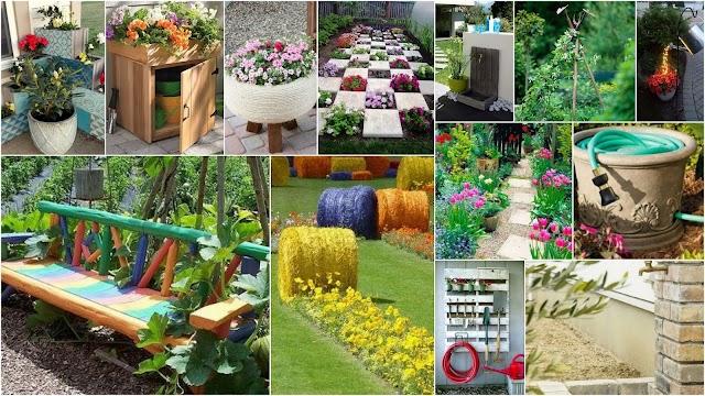 10 Ξεχωριστές χαμηλού κόστους Ιδέες - Κατασκευές για Κήπους - Εξοχικά σπίτια