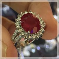 Jual Cincin Berlian Eropa Batu Ruby