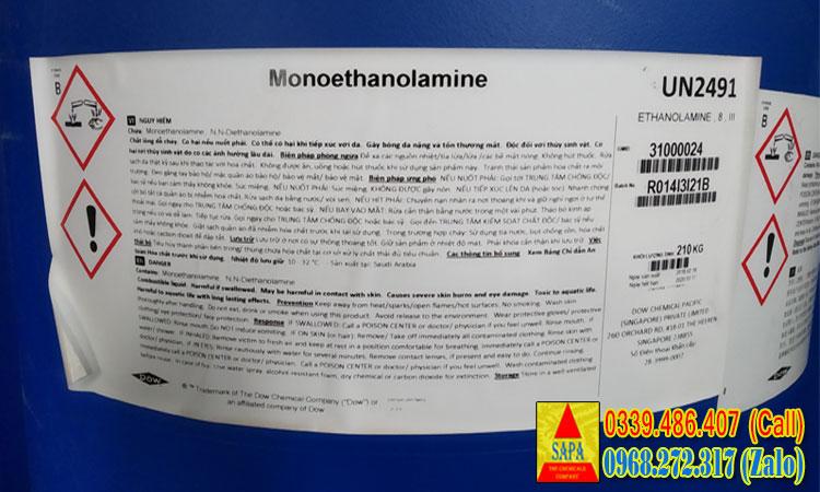 MONO ETHANOL AMINE (M.E.A)