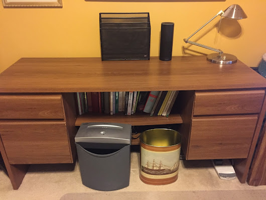 The home office credenza on the left - first pass
