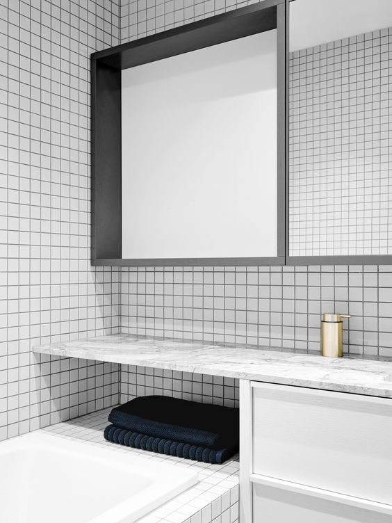 Using Square Tiles In The Bathroom Norse White Design Blog - White square tile bathroom