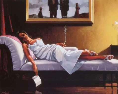 A Carta - Jack Vettriano e suas pinturas cheias de encontros íntimos