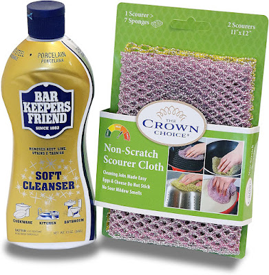 Bar Keepers Friend Soft Cleanser and Sponge