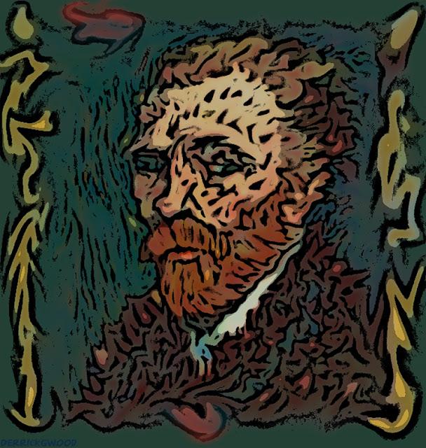 van gogh self portrait painting digital tribute