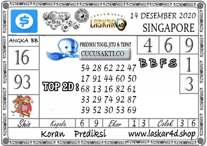 Prediksi Togel SINGAPORE LASKAR4D 14 DESEMBER 2020