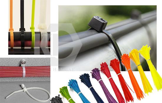 Lạt nhựa nhiều màu sử dụng để đánh dấu hàng hóa, gia cầm