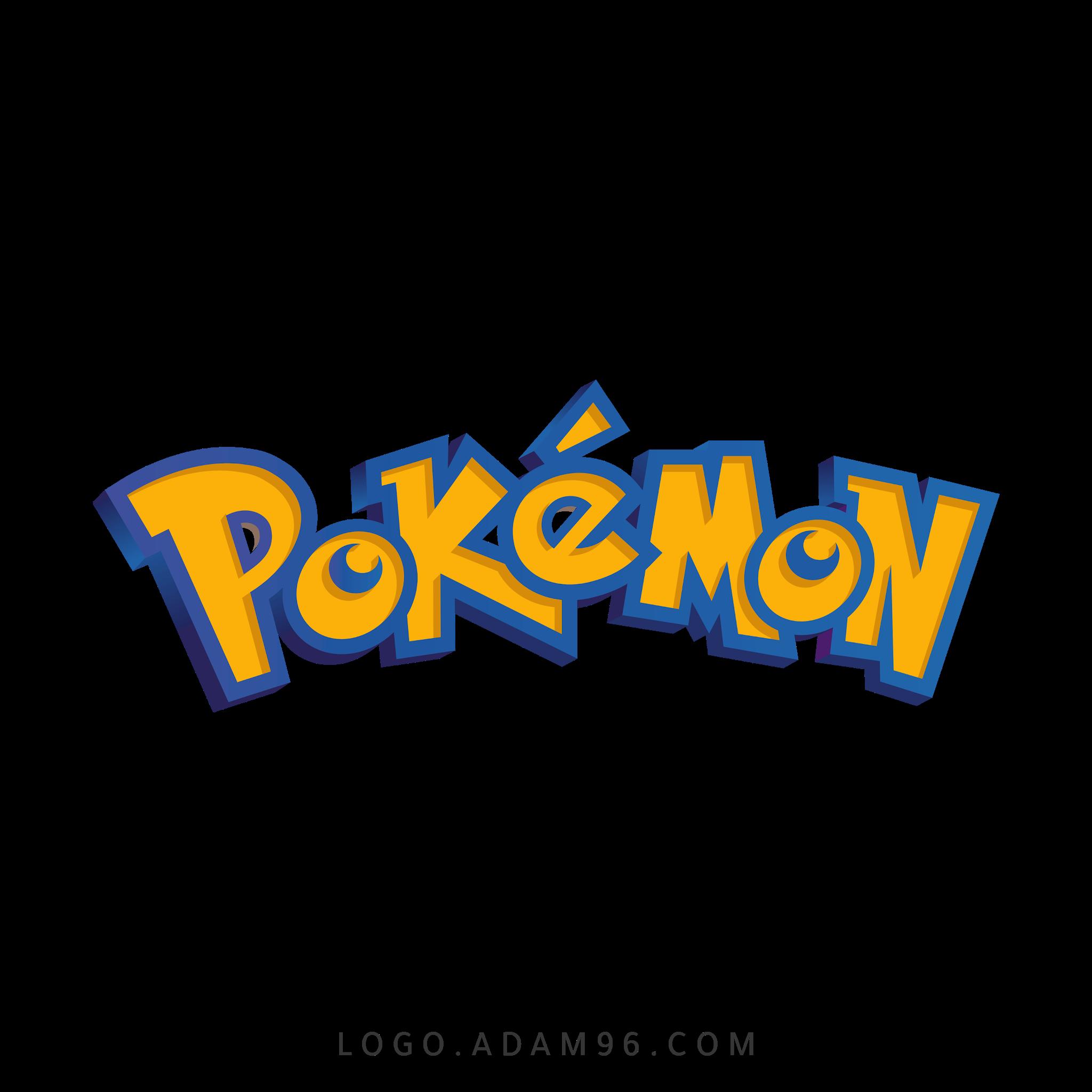 تحميل شعار بوكيمون لوجو شفاف Logo Pokemon PNG