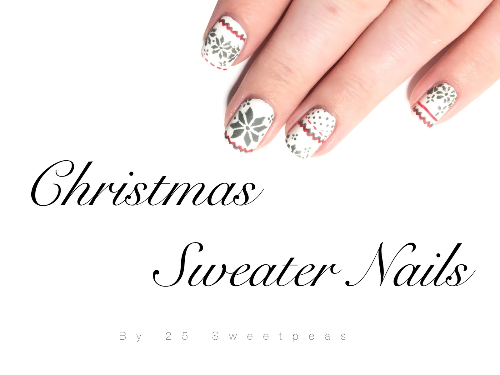 Christmas Sweater Nails - 25 Sweetpeas