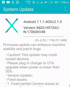 How to Upgrade Infinix Zero 4 Plus to Official Android Nougat 7.1.1