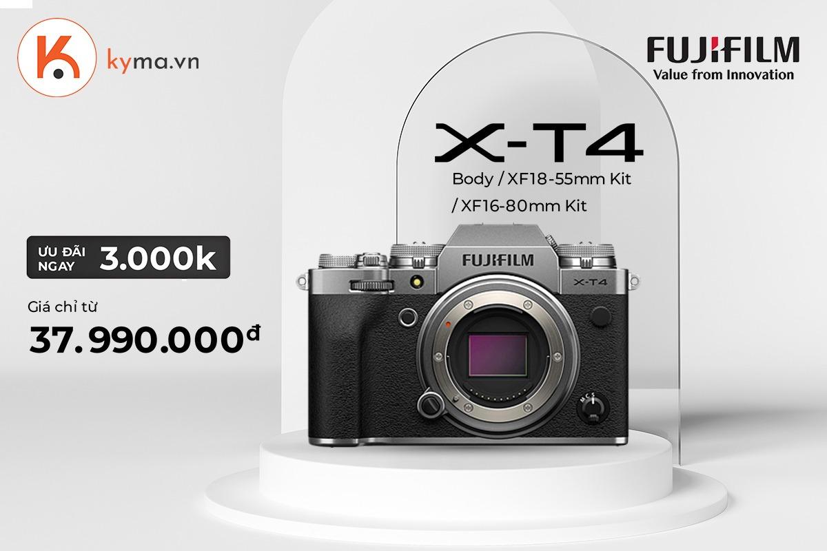 Mua máy ảnh Fujifilm X-T4 từ 07.05 - 30.05.2021 nhận ngay ưu đãi 3 triệu