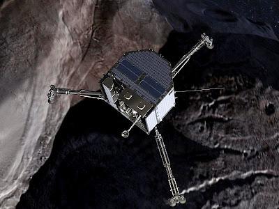 Ilustrasi dari Philae ketika mencapai komet
