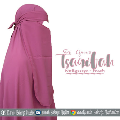 Model Jilbab Cadar Gamis Warna Pastel Wollycrepe Peach