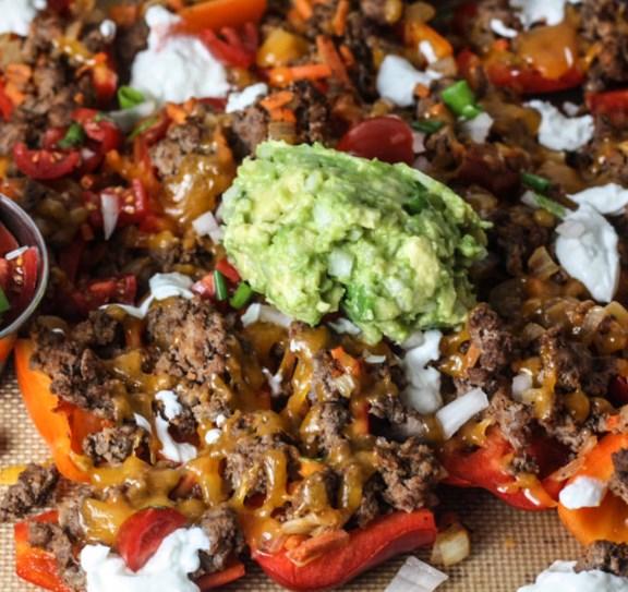 Bell Pepper Nachos #paleo #ketodiet