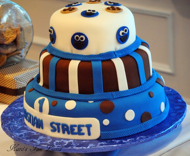 A Quot Cookie Monster Quot Inspired 1st Birthday Party Anders