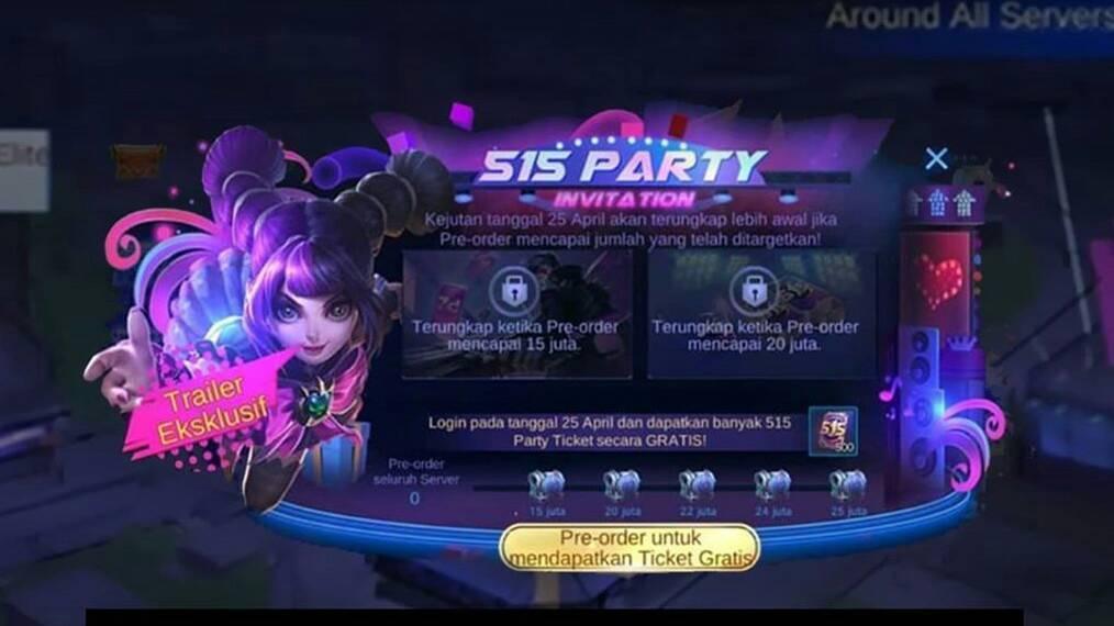 event 515 dapat skin dan border gratis