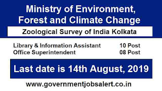 MoEF Recruitment for Zoological Survey of India - Application Form