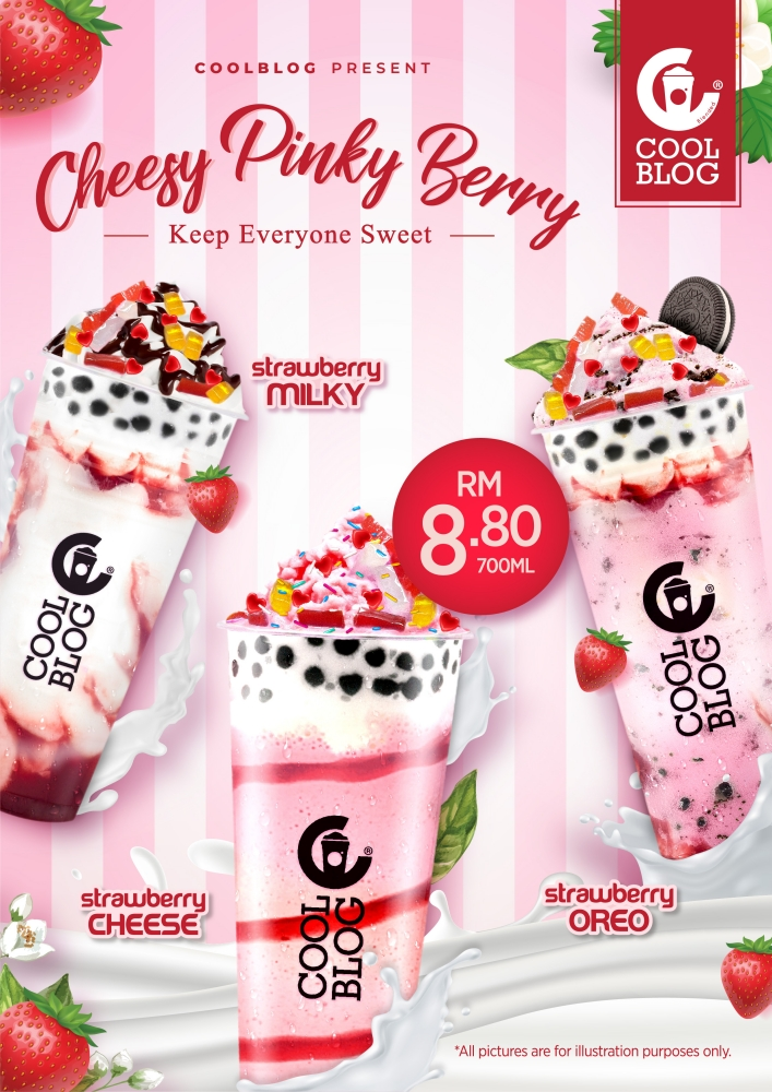 Coolblog, Coolblog CPB, Cheesy Pinky Berry, Rawlins Eats, Suria FM, Cheesy Pink Berry Strawberry Cheese, Cheesy Pink Berry Strawberry Oreo, Cheesy Pink Berry Strawberry Milky