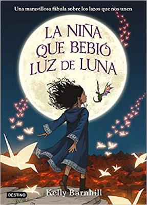 tapa libro la niña que bebio luz de luna