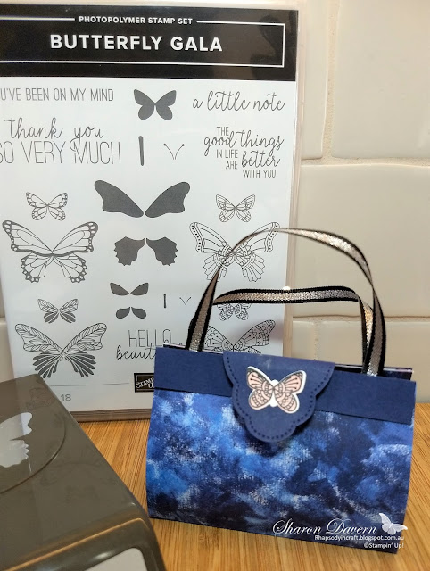 Butterfly Gala, rhapsody in craft, garden impressions DSP, butterfly duet punch, night of navy, art with heart colour creations blog hop