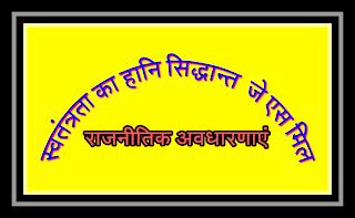 Political concept loss theory of Liberty js mil loss theory harm principal js mil ka svatantrata ka hani sidhant js mil