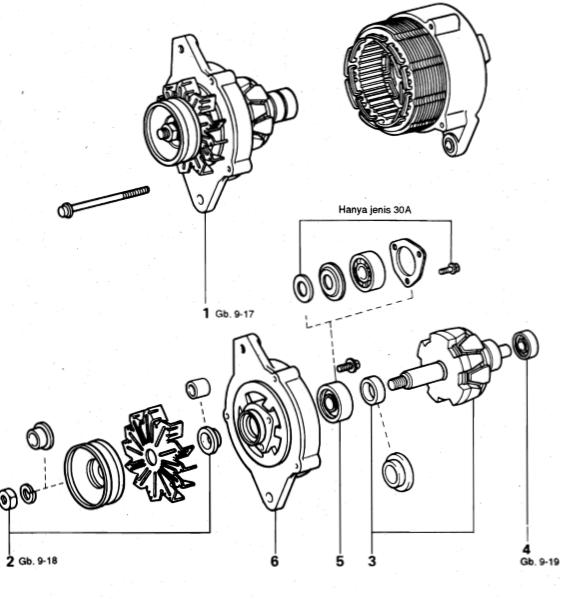 Komponen-komponen Alternator