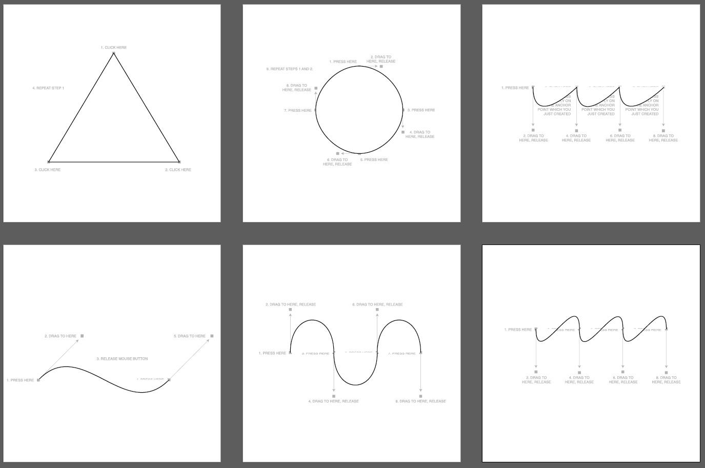 Becky Stapley Adobe Illustrator Pen Tool Exercises