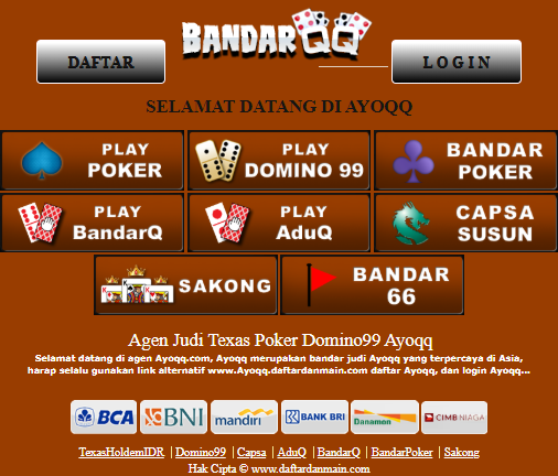 Bandarqq Poker Domino Aduq Play Poker Terpercaya