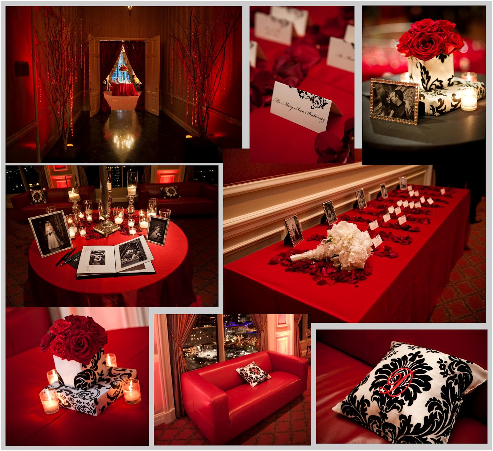 Red Wedding Ideas Reception: Fly Me To The Moon: Real Wedding: Powers-Davison