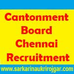 Cantonment Board Chennai Recruitment