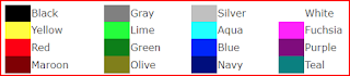 HTML Color Code Name