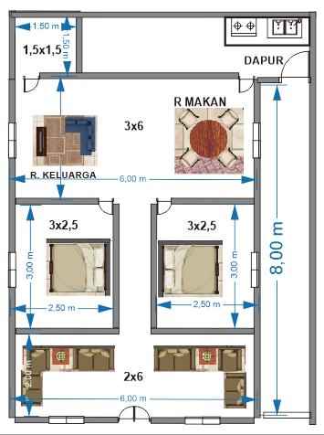 Ini Dia Desain Rumah Minimalis 6x8 Yang Setiap Orang Impikan