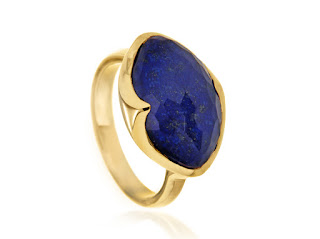 Snap up this blue beauty for 60% off now at £38.00. A stunning cocktail ring gold vermeil featuring a blue lapis lazuli gemstone to make you dream of far away exotic places and inspire some serious holiday planning.