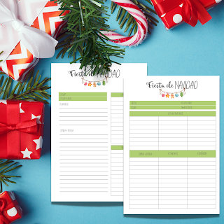 navidad, planificadores, planners, imprimibles, regalos, menus, lista de tareas, imprimir, PDF