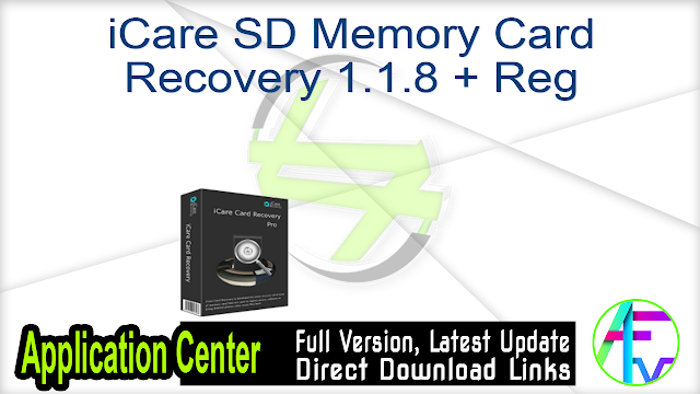 iCare SD Memory Card Recovery 1.1.8 + Reg