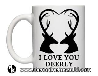 Kubek I love you deerly - prezent walentynkowy