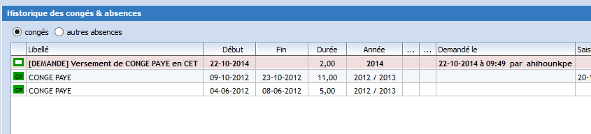Compte Epargne Temps (CET)