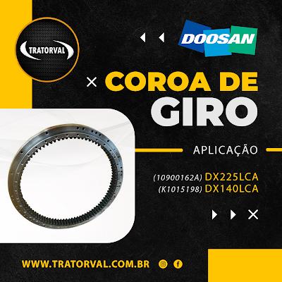 10900162A doosan coroa giro engrenagem K1015198