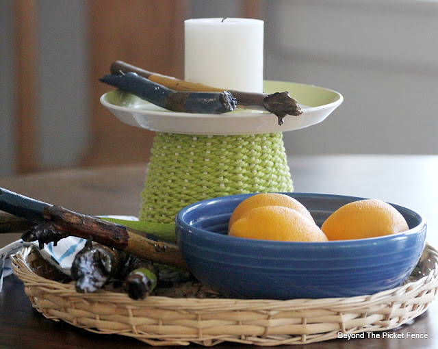 How to Make a Funky, Colorful, Summer Centerpiece from Thrift Store Finds