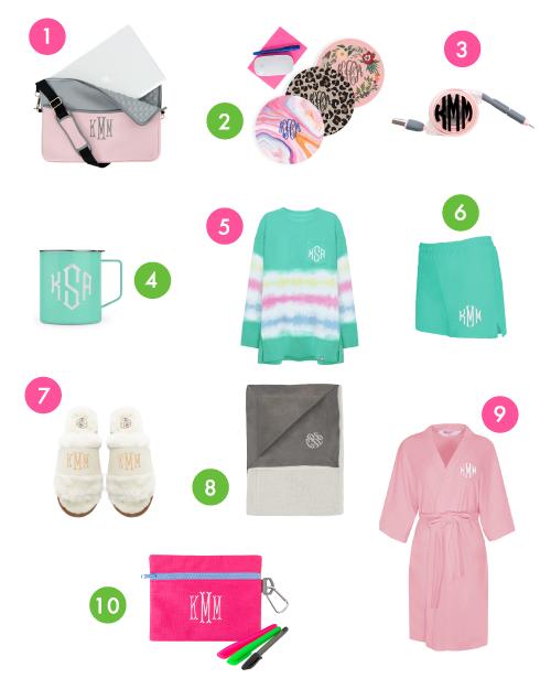 10 Monogrammed Work from Home Essentials & Desk Accesories