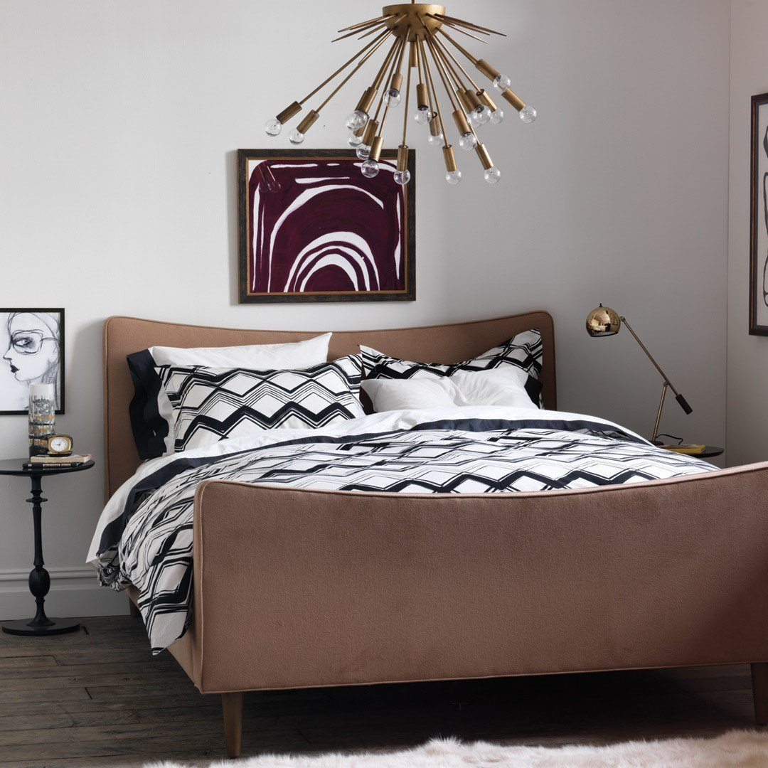 Black And White Chevron Bedroom Ideas Zebra Bedroom Decor Bedroom Curtains Tesco White Vintage Bedroom Ideas: Modern Black And White Geometric Themed Bedding And Curtains