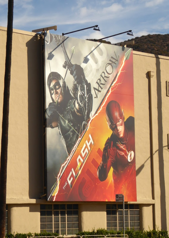 Arrow The Flash show billboards