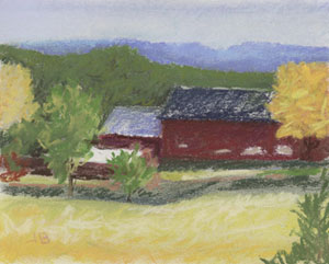 http://www.ebay.com/itm/Red-Barn-framed-pastel-on-paper-by-Lititz-artist-Jack-Bingham-/191928399139?hash=item2cafd2f523:g:9iIAAOSw4s9XkUFa