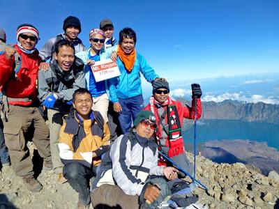 Summit Mount Rinjani 3726 meters