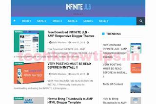 Infinite JLB Free Theme AMP Blogger Template