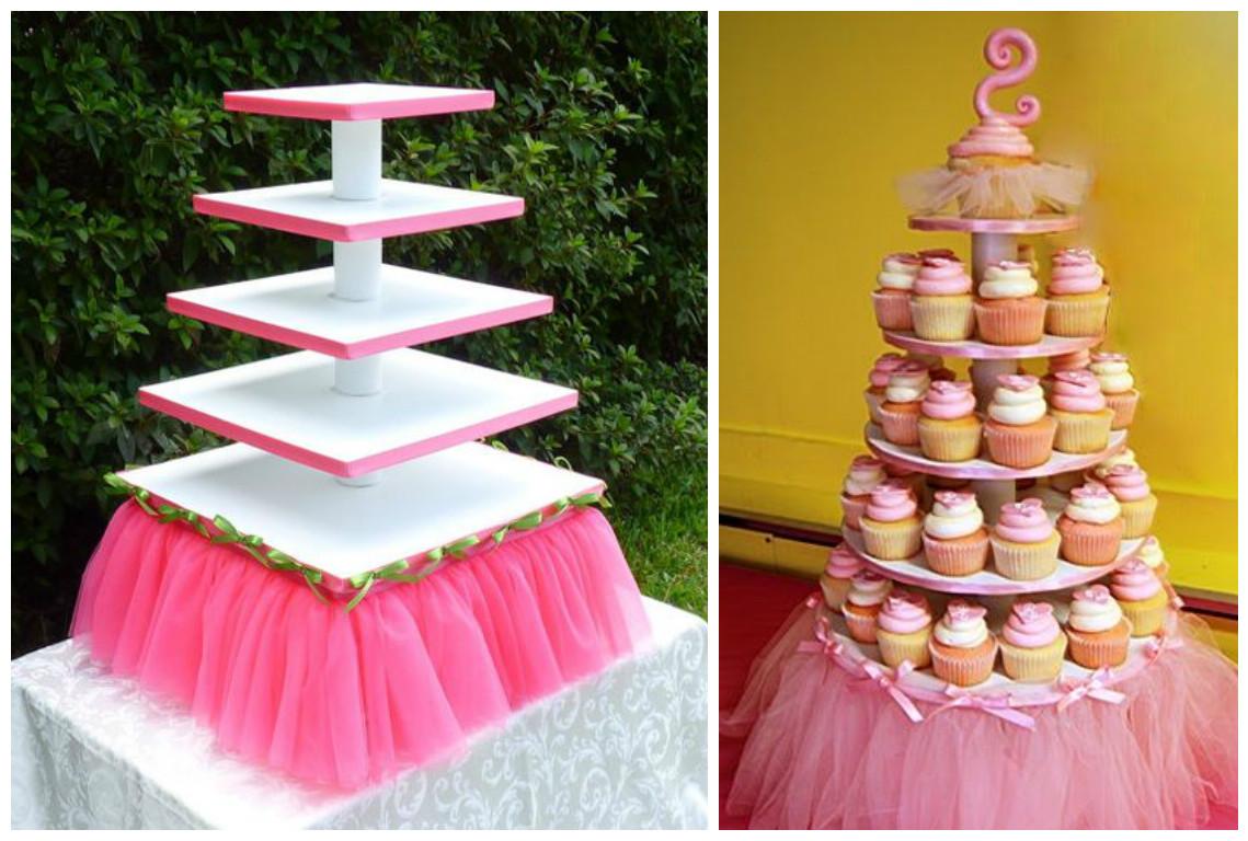 15 ideas para decorar mesas de dulces con tul mimundomanual for Mesas de dulces infantiles